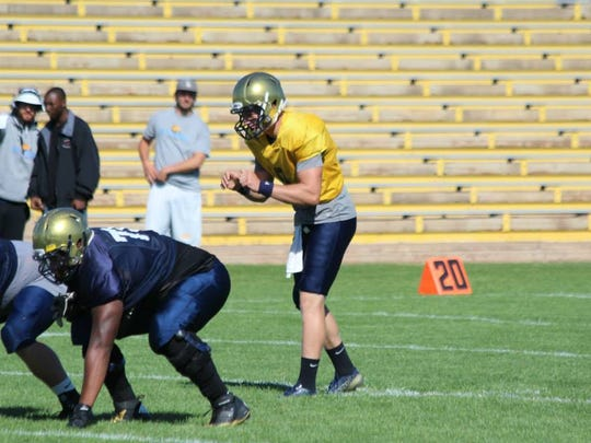 Arthur Ray Jr., left, played 14 games over two seasons for Division II Fort Lewis State in Durango, Colo. He injured his right knee in 2013, rehabbed it and returned to earn second-team All-Rocky Mountain Athletic Conference honors last fall.