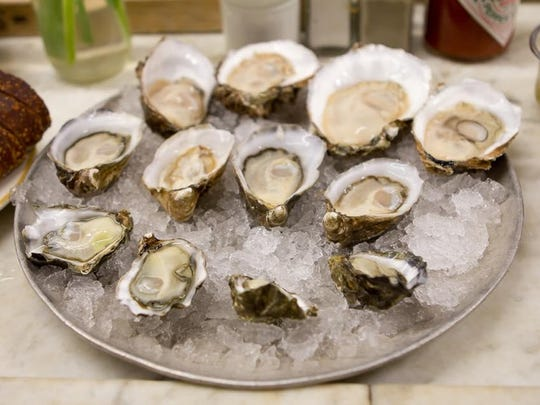 The raw bar at Allure Oyster Bar & Grille in Brielle serves up oysters from both the East and West coasts.