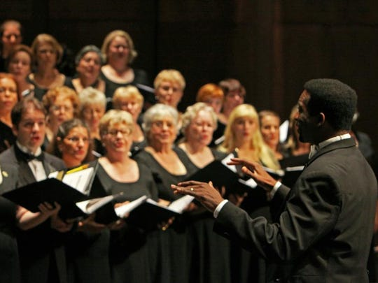 """Andre Thomas conducts the Tallahassee Community Chorus in Mozart's Great Mass in C Minor today at 4 p.m. in Ruby Diamond Concert Hall. Andre Thomas conducts the Tallahassee Community Chorus in Beethoven's """"Missa Solemnis"""" on Sunday."""