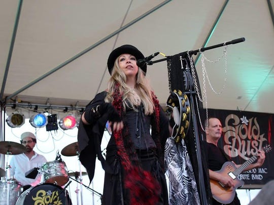 Windy Wahlke plays the role of Stevie Nicks in Gold Dust, a Fleetwood Mac Tribute Band that will perform 7 p.m. Aug. 19 as part of the Kathken Vineyards Summer Music Series. $10.