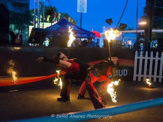 The fire dancing troupe Sacred Fire Dance Company will close each night of the Oregon State Fair with a performance, plus fireworks, 9:40 p.m. nightly.Free with fair admission, $8 (12 to 64) or $6 in advance; $2 opening day; $6 ages 6 to 11 or $5 in advance; $1 ages 65 and older.