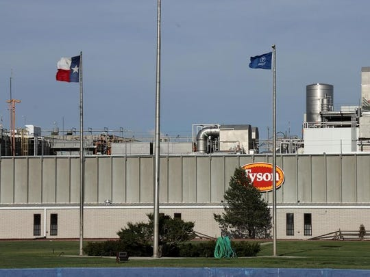 A Tyson Foods plant in Amarillo, Texas, a major hub for the nation's meat supply.