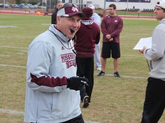 Dan Mullen Smiling at Practice HS.jpg