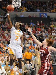 Jasmine Jones won't be a part of Tennessee's postseason run due to lingering concussion effects.