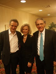 CSO music director Louis Langrée with Linda and Harry Fath