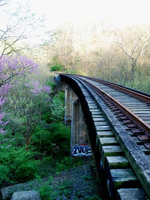 The Wasson Way rail line in Ault Park.