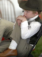 Young Chautauquan Duncan Boren as John Muir awaited his turn to take the stage at Rancho San Rafael in 2006.