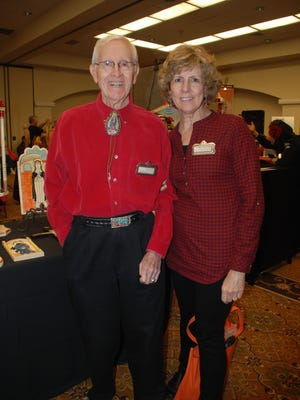 The Spanish Colonial Arts Society of Santa Fe held their second annual Las Cruces Market in February at Hotel Encanto. J. Paul Taylor, and daughter, Mary-Helen Ratje, are shown at last year's event at Hotel Encanto, site of the SCAS cultural event.