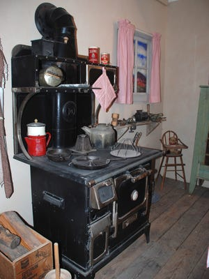 If this wood stove could talk this one would have many stories of days of yesteryear. This 1930s era ranch kitchen exhibit is can be viewed at Carrizozo Heritage Museum, a museum that can trace to its beginnings to March 1997.