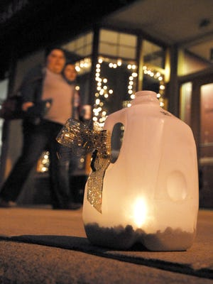 Candlelight Christmas is a popular event in downtown Bucyrus every December. This summer's First Fridays will be modeled somewhat on that event.
