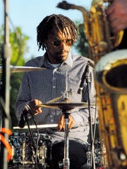 Dr. Pocket drummer Todd Watts Keeps the beat during