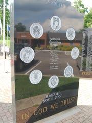 The Delhi Township Wall of Honor was dedicated at Memorial