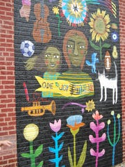 Five different murals have been painted along the Warsaw Avenue corridor in East Price Hill. Sept. 12, 2017