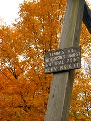 Timm's Hill is Wisconsin's highest natural point at