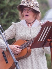 Debbie Lewis sings songs from times past during the 2017 Grand Ole Gallatin Music Festival at the Douglass-Clark House.