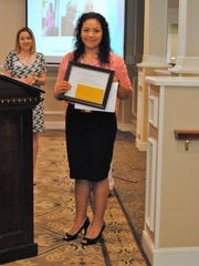 Student of the Year Tatiana Gonzalez, with tutor trainer