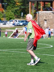 Kevin Powers, a Pearl River resident, in his superhero