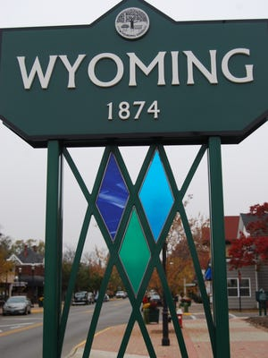 A sign welcoming visitors to Wyoming sits on the city's border with Lockland.