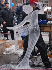 Mount Holly's Fire & Ice Festival challenges artists to showcase their ice sculpture skills. Local cooks provide the heat during a chili competition.