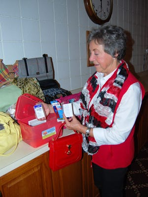 Mary Reese, of St. Clair, has put together Chemo Relief Kits with medications to help people cope with the side effects of chemotherapy.