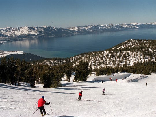 Heavenly Mountain Resort above south shore of Lake Tahoe.