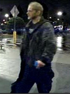 The department is seeking a white male suspect in reference to fraudulent use of a credit card.