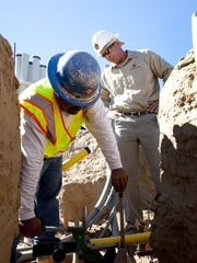 Southwest Gas officials say reports of a natural-gas leak came after a new gas line was installed for United Dairymen of Arizona's plant near Broadway and Hardy roads.