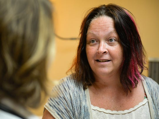 Post-traumatic stress disorder patient Kelly Grack,