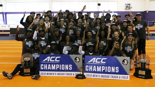 The FSU men and women swept the ACC Indoor Track & Field Championship team titles.