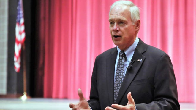 U.S. Senator Ron Johnson (R-Wisconsin)  speaking at an event last year at Pulaski High School.