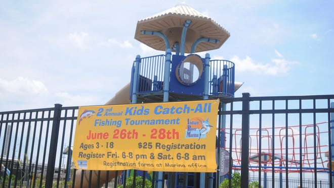 The camp playground at the Indian River Marina advertises the second annual Kids Catch-All tournament on June 26-28.