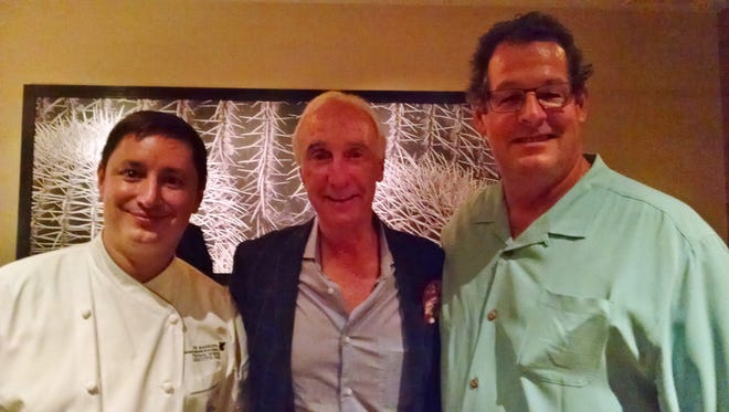 Chef Thomas Horner, Justin Baldwin of Justin Winery, and Chef Eric Wadlund at a wine pairing event at Rockwood Grill.