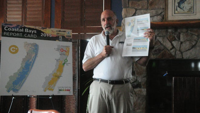 UMCES's Bill Dennison presents data on the state of the coastal bays.