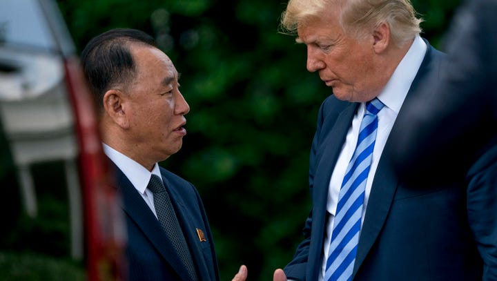 President Donald Trump meets with North Korean official