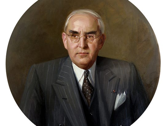 A portrait of Sen. Arthur Vandenberg on Thursday, Dec.