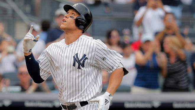 Aaron Judge launched a home run for the Yankees on Tuesday against the Red Sox in his return to the lineup.