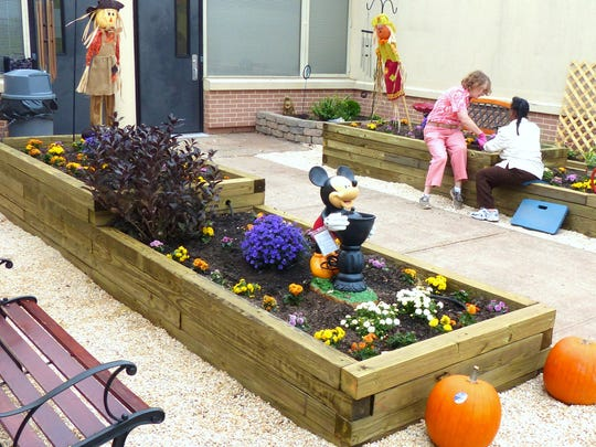 The Lowe's Heroes project included a sensory garden for educational purposes.