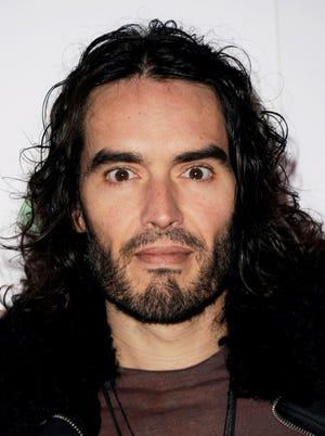 Russell Brand attends a conference on drug and alcohol addiction in London on Jan. 16, 2014.