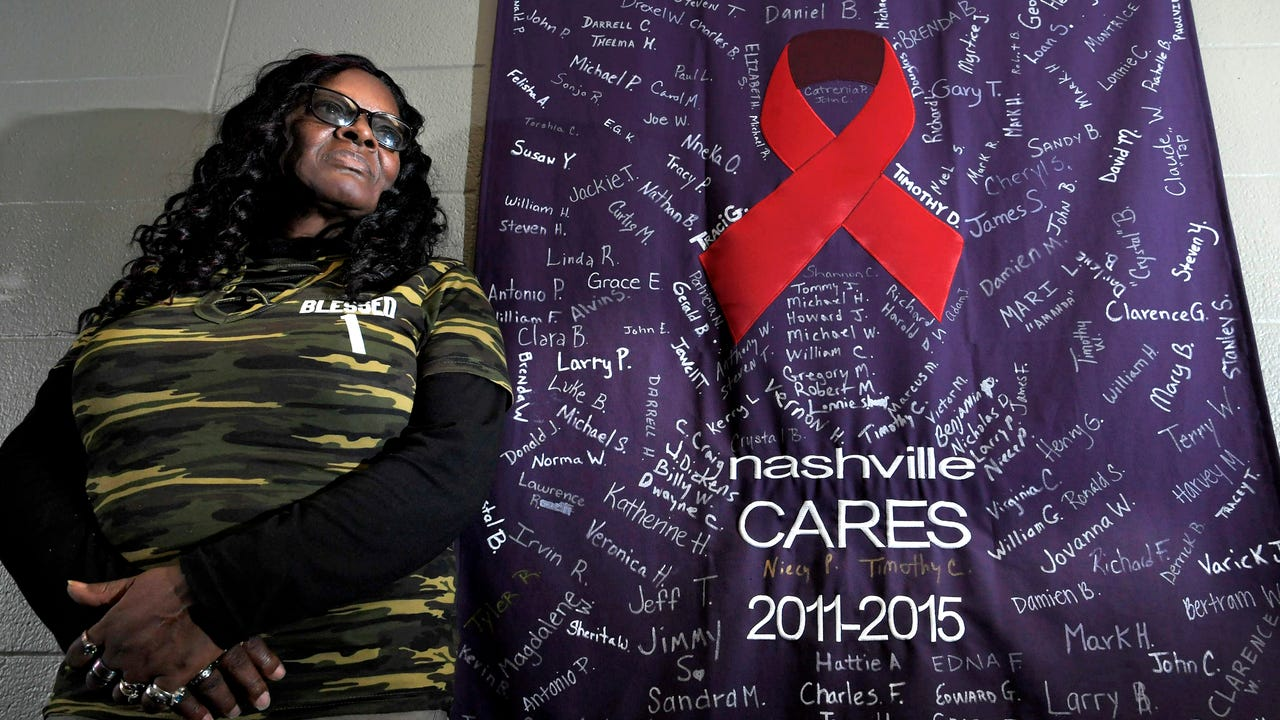 Margaret Williams came to Nashville CARES as a client. She was homeless, drug and alcohol addicted and HIV positive.  She's been sober for nine years and now volunteers there three days a week.