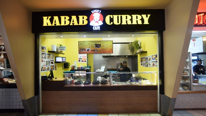 In this file photo, Singh's Cafe in the Micronesia Mall food court offers freshly-made, gourmet selections of curries, shawarma, and other delicacies for around seven bucks.  The food stall was one of several in the food court that was closed after public health did an inspection. It was reopened on June 26 after passing inspection.