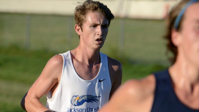 Jackson Christian's Logan Riddle finished the West Tennessee Fall Classic in second place with a time of 17:12.21.