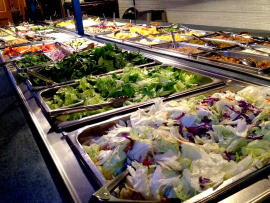 The grill offers salad bar options with its steak and