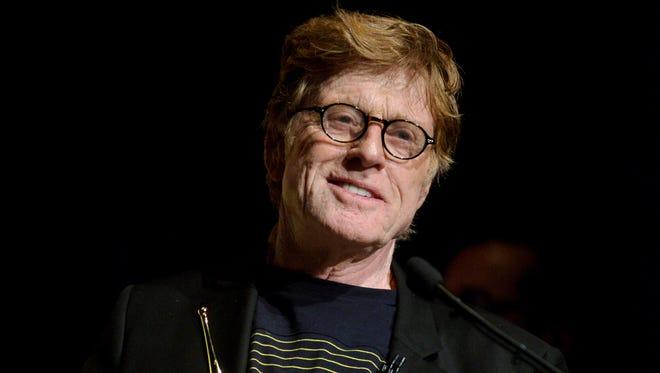 This Feb. 7, 2014 file photo shows Robert Redford at the 2014 Santa Barbara International Film Festival's American Riviera Award ceremony in Santa Barbara, Calif. (Photo by Richard Shotwell/Invision/AP, File)