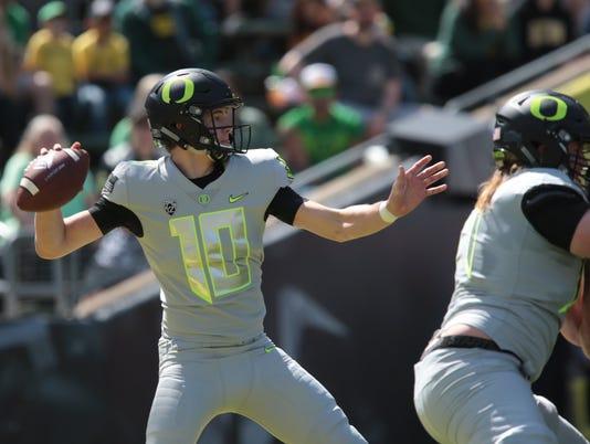 NCAA Football: Oregon Spring Game