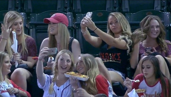 Selfie-taking women from ASU drew national attention on Thursday.