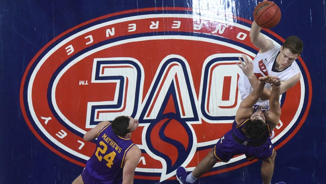 Belmont's Tyler Hadden puts up a shot against Lipscomb in Monday night's game at Curb Event Center.