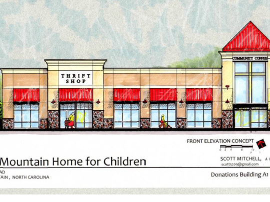 The Black Mountain Home for Children hopes to have this thrift store/coffee shop open in the fall of 2018.