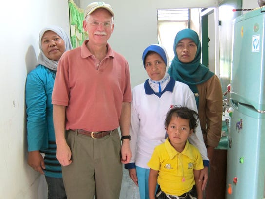 Rick in Aceh, Indonesia - health program