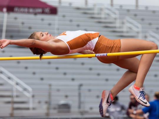 Alice's Criselda Cruz competes in the girls high jump