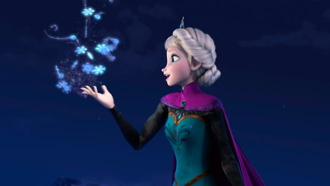 Elsa (voiced by Idina Menzel) sings 'Let It Go' in Disney's hit animated film 'Frozen.'